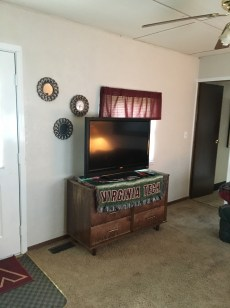 Living room television area