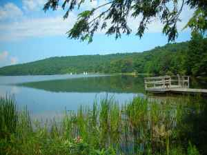 A view of Deer Valley Lake from the horsebarn end of the lake.