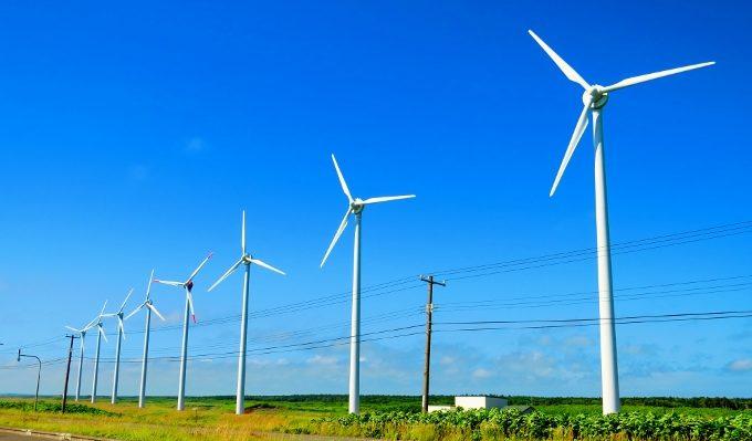 オトンルイ風力発電所の景色、オロロンライン