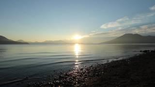 【動画】美笛キャンプ場の最高の朝日!支笏湖の景色