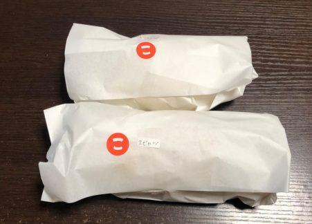 袋に入ったコッペパン2個