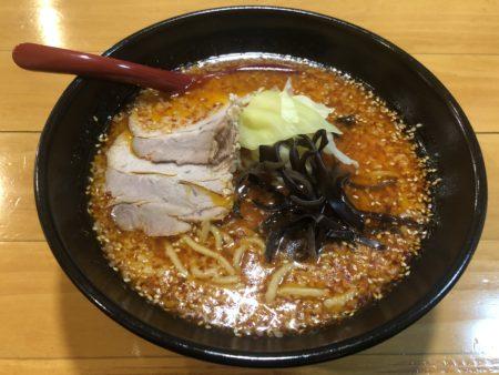 山嵐清田店の赤スープ