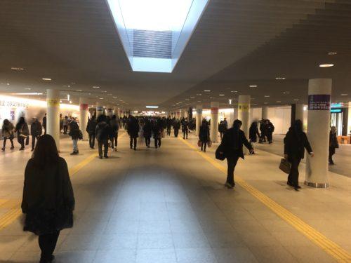 札幌地下歩行区間内