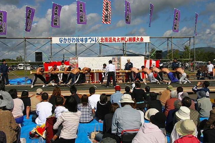北海道丸太押し相撲大会