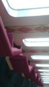 フェリーのソファー