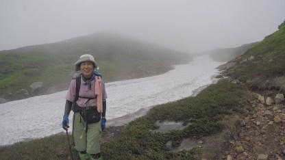 サシルイの雪渓