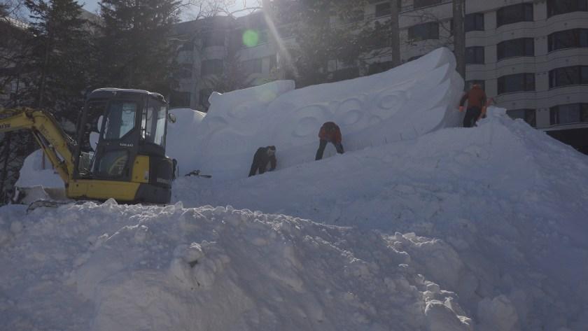 雪像制作風景
