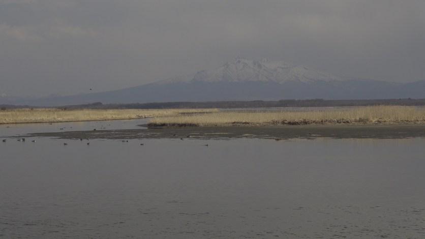 トーフツ湖から斜里岳