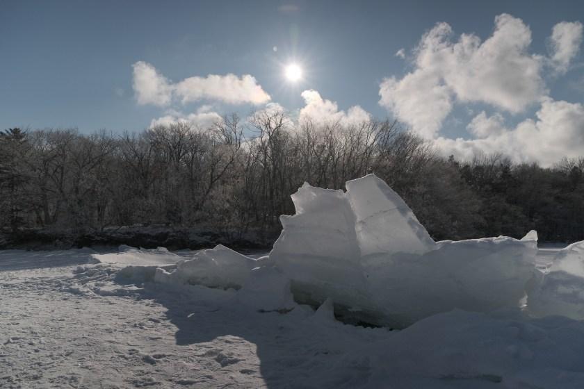 阿寒湖氷上・御神渡り