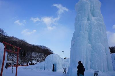 氷涛祭り 入口より