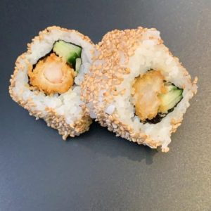 Futomaki ebi fry inside out