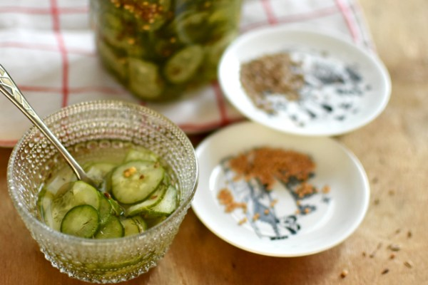 肉にも魚にも北欧の定番付け合せキュウリ甘酢漬け Pressgurka