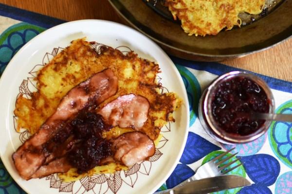 スウェーデンのポテトパンケーキ「ラグムンク」Raggmunk