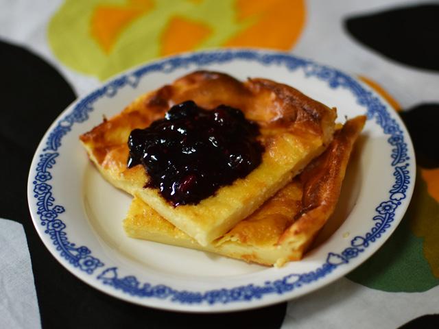 オーブンで焼くフィンランドのパンケーキ Pannukakku