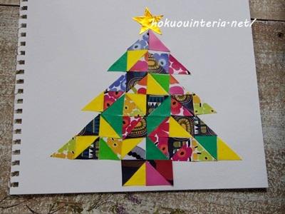 子どもとクリスマスツリーを作り