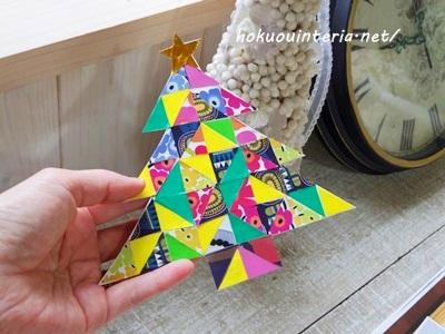 壁飾りのクリスマスツリー