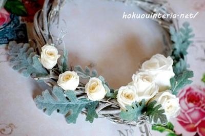 100均のフェルトと造花でクリスマスリース作り