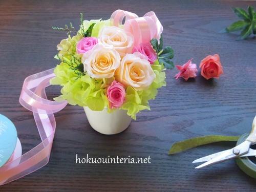 母の日に贈るお花作り