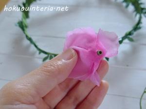 ハンドメイドの花かんむり
