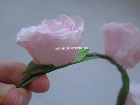 プリザーブドフラワーで作る花冠