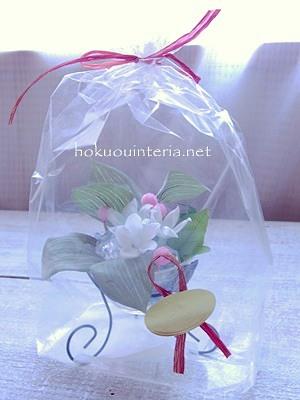 母の日プレゼント用お花のラッピング方法