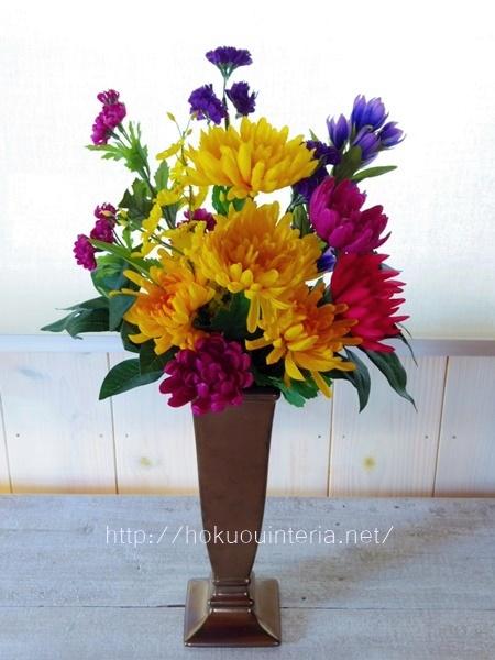 自分で作る仏花の造花アレンジ