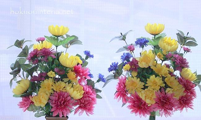 仏花を100均造花で作った