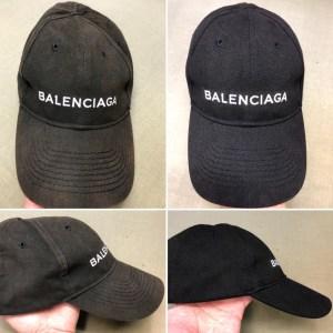 バレンシアガのキャップの色褪せを色修正、型崩れまで修正します!