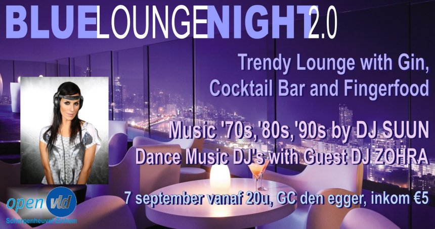 Blue Lounge Night Banner