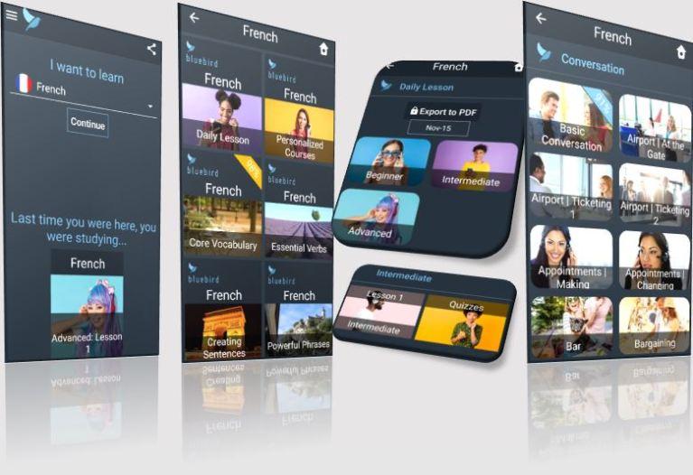 外語學習平台 bluebird screenshot