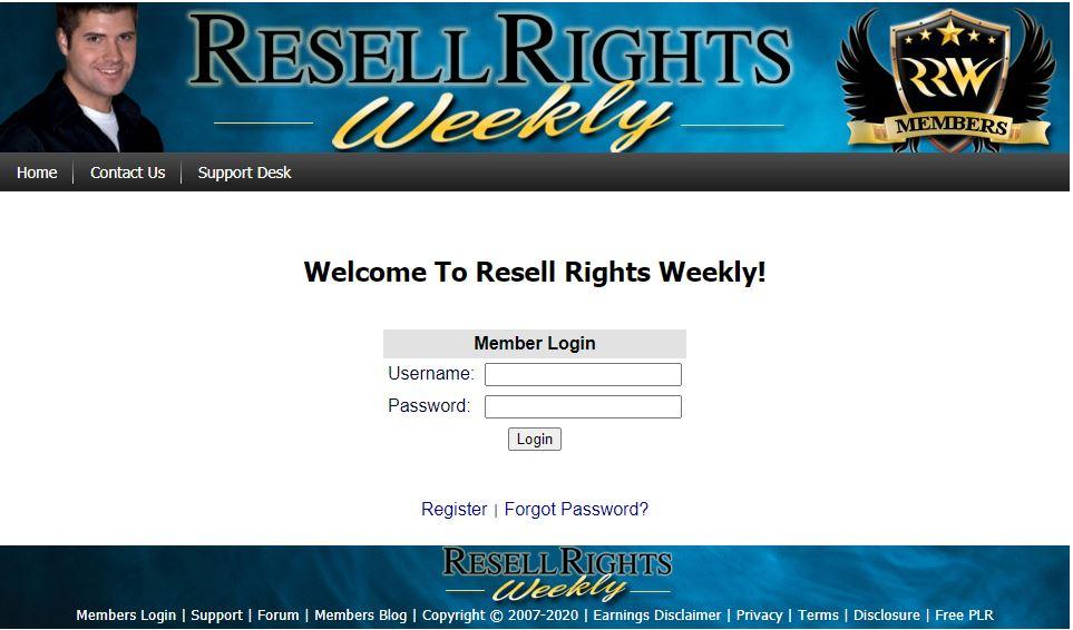 電子書賺錢 resell rights weekly1