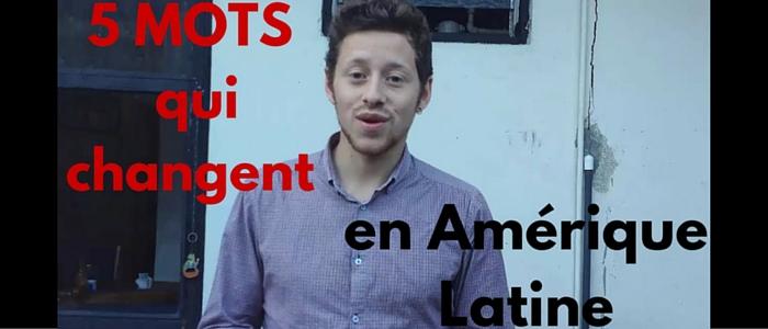 Vidéo: 5 mots espagnols qui changent en Amérique latine