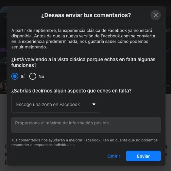 Facebook nuevo diseño septiembre
