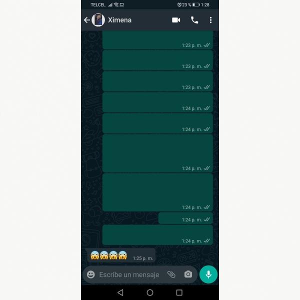 WhatsApp mensajes invisibles