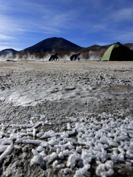 Camping bei Salz und Schwefel