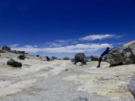 zwischen den Gipfel des Uturuncu, 5'760 MüM