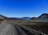 ...entlang der halbtrockenen 'Laguna de las Lajas' Wasserkraft gegen Nationalpark. In Chile gewinnt immer der Strom.