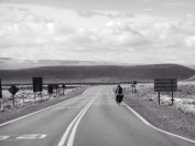 Von El Calafate ging es erst 30km zurück an die Ruta 40. Pampa.