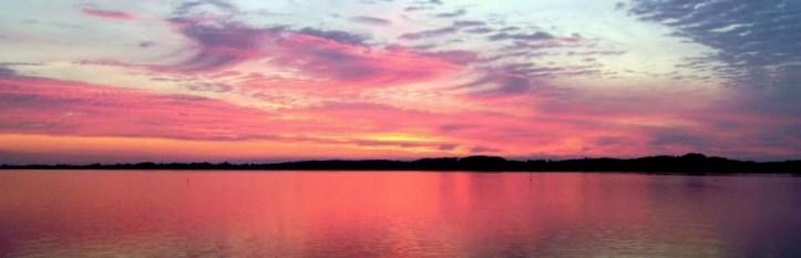 Solnedgang over Tuse Næs - Holbæk inderfjord
