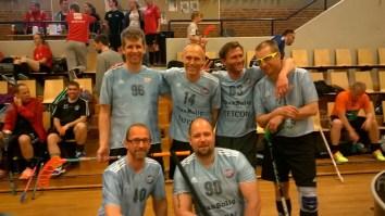 Old Boys-holdet bestående af Jan Svane, Thomas Kielberg, Martin Bagge Olsson, Thomas Lentz, Jens Albagaard og Martin Jørgensen