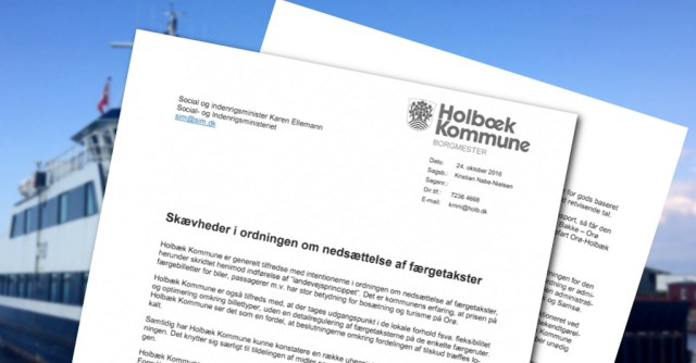 Borgmester Søren Kjærsgaard har skrevet til social- og indenrigsminister Karen Ellemann.