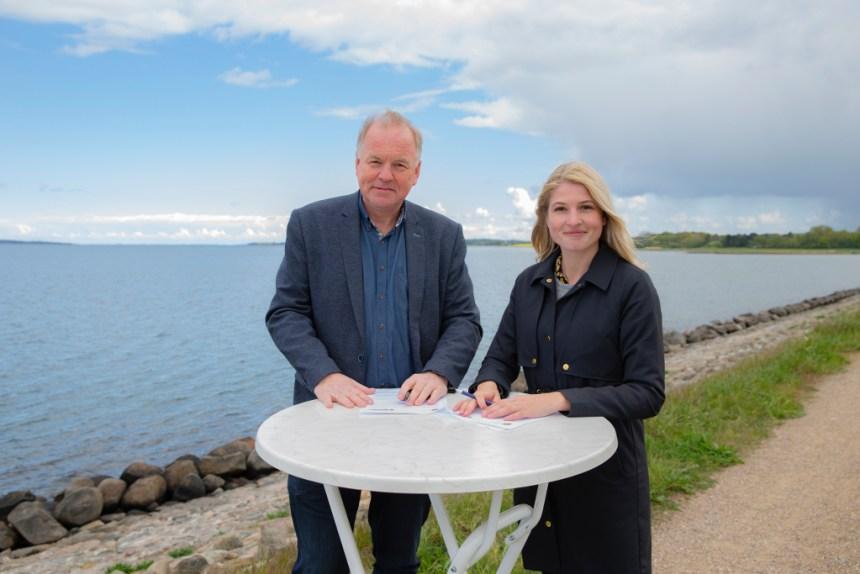 Thomas Adelskov, Odsherred Kommune, og Christina Krzyrosiak Hansen, Holbæk Kommune, PRfoto: Holbæk Kommune
