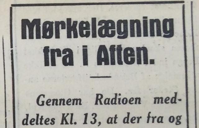 Fra Holbæk Amts Socialdemokrat 9. april 1940.