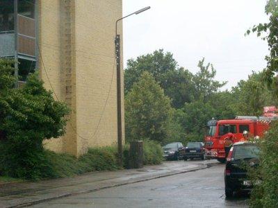 En el-ledning var faldet ned på Marievej. Foto: Freelancefotografen.dk