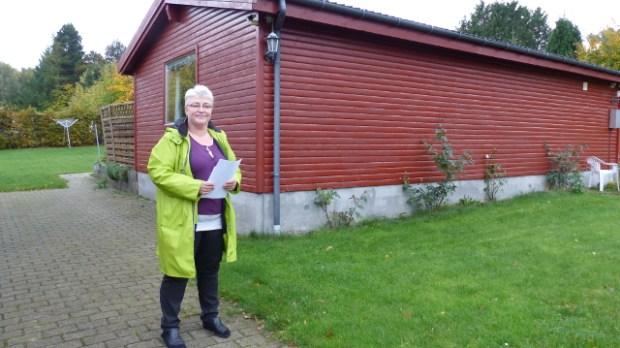 Her ville Pia Schmidt gerne fortsætte med at bo. Nej sagde myndighederne. Siden marts har huset stået tomt sammen med mere end 100 andre boliger på Orø. Foto: Jesper von Staffeldt.
