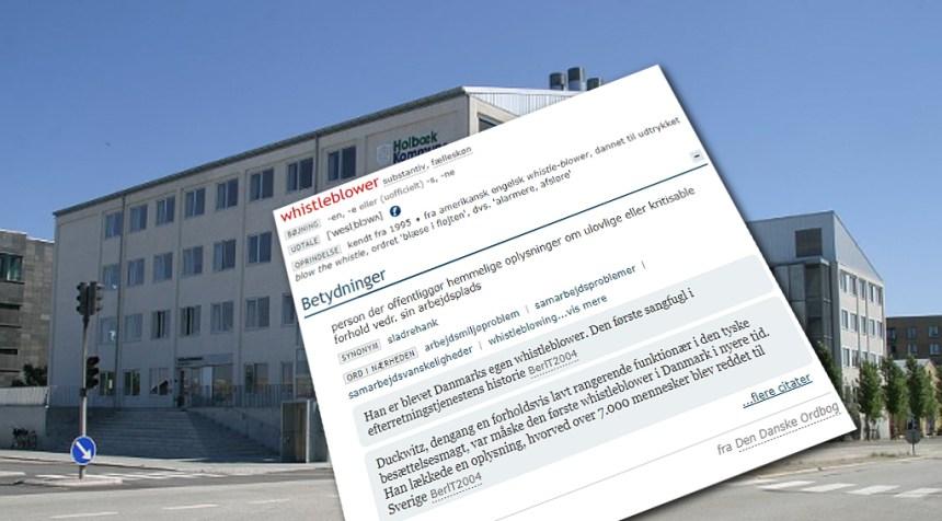 Der er fremsat borgerforslag om en whistleblowerordning i Holbæk Kommune. Illustration: Rolf Larsen.