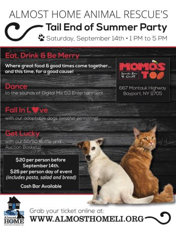 Almost Home's Tail End of Summer Party @ Momo's Too | Bayport | New York | United States