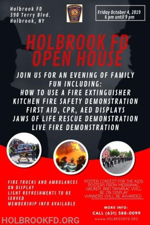 Holbrook Fire Department Open House @ Holbrook Fire Department | Holbrook | New York | United States