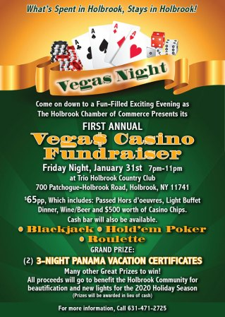 First Annual Vegas Night @ Trio Holbrook Country Club | Holbrook | New York | United States