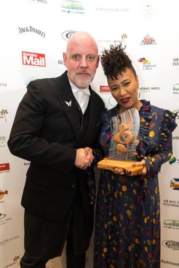 Emeli Sande and Geoff Ellis at SSE Scottish Music Awards